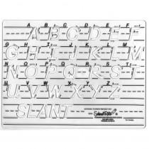 SR-5471 - Template Uppercase Transitional Manuscript Letters in Handwriting Skills