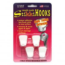 STK03020 - Stikkihooks 4-Pk White in Clips