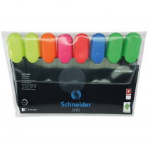 Job Highlighters, Chisel Tip, 8-Pack/6-Color Assortment - STW115088 | Stride, Inc. | Highlighters