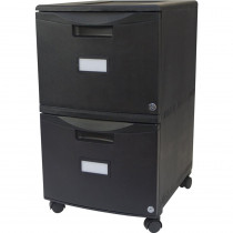 STX61312U01C - Storex 2Drawer Mobile File Cabinet W Lock Legal Letter Black in Storage