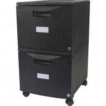 STX61312U01C - Storex 2Drawer Mobile File Cabinet W Lock Legal Letter Black in Storage