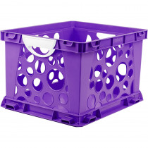 STX61459U03C - Premium File Crate W Handles Purple Classroom in Storage