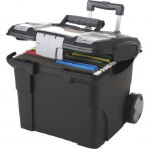 STX61507U01C - Storex Portable File Box On Wheels in Storage