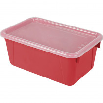 STX62407U06C - Small Cubby Bin With Cover Red Classroom in Storage Containers