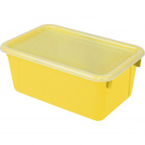 STX62410U06C - Small Cubby Bin With Cover Yellow Classroom in Storage Containers