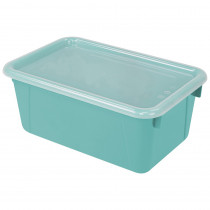 STX62412U06C - Small Cubby Bin With Cover Teal Classroom in Storage Containers
