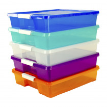Stack & Store Box Craft Organizer, Assorted Colors, 5-Pack - STX63202U05C | Storex Industries | Storage Containers