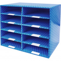 Laminated Corrugated Mailroom Sorter - 10 Compartments - STX80301U01C | Storex Industries | Mailroom