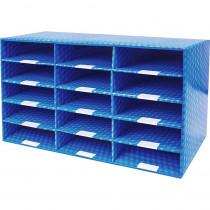 Laminated Corrugated Mailroom Sorter - 15 Compartments - STX80302U01C | Storex Industries | Storage
