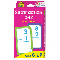 SZP04007 - Subtraction 0-12 Flash Cards in Flash Cards