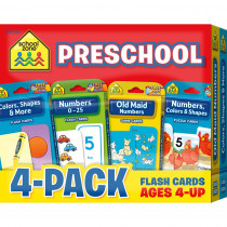 SZP04044 - Preschool Flash Cards 4 Pk in Resources