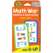 SZP05016 - Math War Addition & Subtraction Game Cards in Card Games