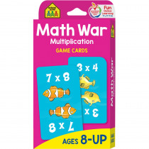 SZP05032 - Math War Multiplication Game Cards in Card Games