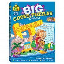 SZP06349 - Big Workbook Alphabet Codes Puzzles & More in Art Activity Books