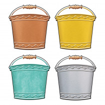 T-10674 - Buckets Classic Accents Variety Pk I Heart Metal in Accents