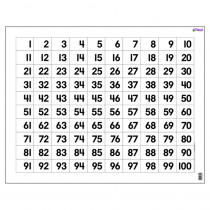 T-1090 - Wipe-Off Chart Hundreds 22 X 28 in Math