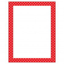 T-11426 - Polka Dots Red Terrific Papers in Design Paper/computer Paper