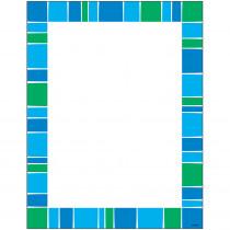T-11427 - Stripe-Tacular Cool Blue Terrific Paper in Design Paper/computer Paper