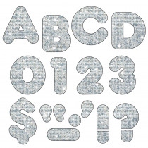 T-1613 - Ready Letters 4 Casual Silver Sparkle in Letters