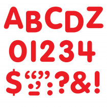 T-1780 - Stick-Eze 1 Letters Numbers Red 126 Punctuation Marks in Letters