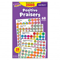 T-1945 - Superspots Stickers Positive 2500Pk Praise in Stickers