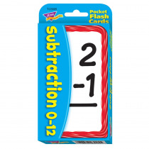 T-23005 - Pocket Flash Cards 56-Pk 3 X 5 Subtraction Two-Sided Cards in Flash Cards