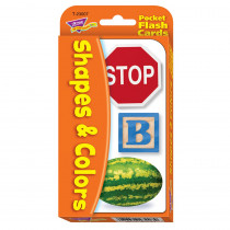 T-23007 - Pocket Flash Cards Colors 56-Pk & Shapes 3 X 5 Two-Sided Cards in Sight Words