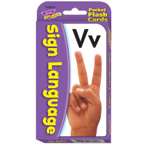 T-23016 - Pocket Flash Cards Sign Language 56-Pk 3X5 Two-Sided Cards in Sign Language
