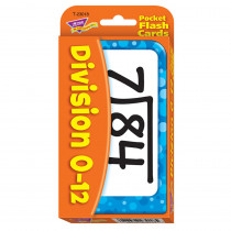 T-23018 - Pocket Flash Cards Division 56-Pk 3 X 5 Two-Sided Cards in Flash Cards