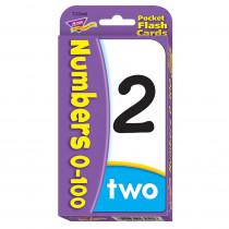 T-23040 - Numbers 0-100 Pocket Flash Cards in Flash Cards