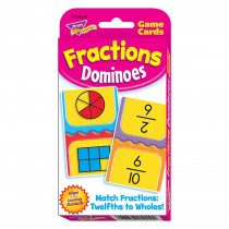 T-24009 - Challenge Cards Fractions Domino in Card Games