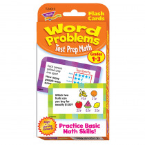 T-24013 - Challenge Cards Test Prep Math Gr 1-3 Word Problems in Math