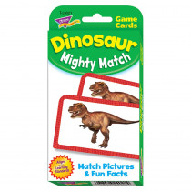 T-24021 - Dinosaur Mighty Match Challenge Cards in Vocabulary Skills