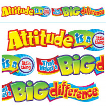 T-25044 - Attitude Is A Little Thing 10Ft Horizontal Banner in Banners