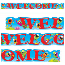 T-25049 - Welcome Frogs 10Ft Horizontal Banner in Banners