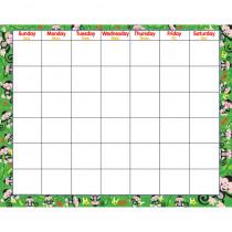 T-27006 - Monkey Mischief Wipe-Off Monthly Calendar Grid in Calendars