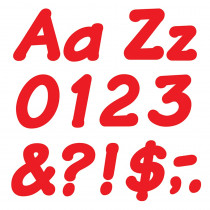 T-2700 - Ready Letters 4 Inch Italic Red in Letters