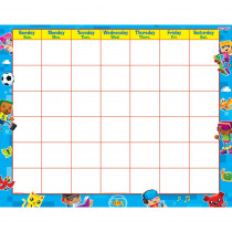 T-27031 - Blockstars Wipe Off Calendar Monthly in Calendars