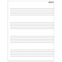 T-27304 - Music Staff Paper Wipe Off Chart 17X22 in Dry Erase Sheets