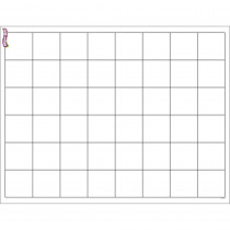 T-27306 - Graphing Grid Large Squares Wipe Off Chart 17X22 in Dry Erase Sheets