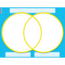T-27311 - Venn Diagram Wipe Off Chart 17X22 in Dry Erase Sheets