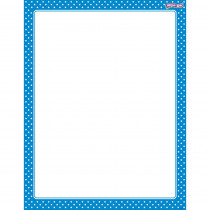 T-27332 - Polka Dots Blue Wipe Off Chart in Classroom Theme