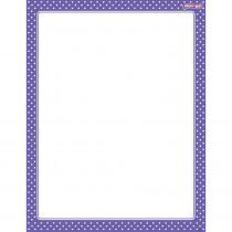 T-27334 - Polka Dots Purple Wipe Off Chart in Classroom Theme