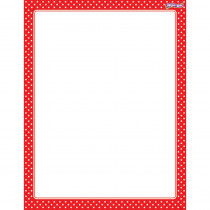 T-27335 - Polka Dots Red Wipe Off Chart in Classroom Theme