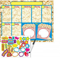 T-27812 - Calendar Weekly Wipeoff Popcorn Time in Calendars
