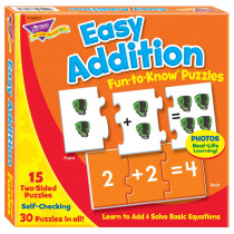 T-36013 - Easy Addition Puz Fun-To-Know Puzzles in Puzzles