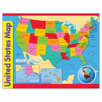 T-38097 - Chart Usa Map 17 X 22 Gr 1-8 in Maps & Map Skills