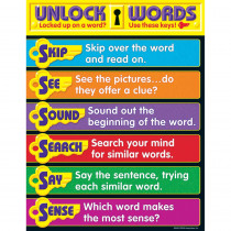T-38283 - Learning Chart Unlocking Words in Language Arts