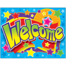 T-38334 - Welcome Stars Learning Chart in Classroom Theme