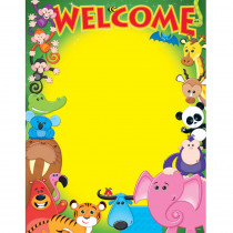 T-38335 - Welcome Awesome Animals Learning Chart in Classroom Theme